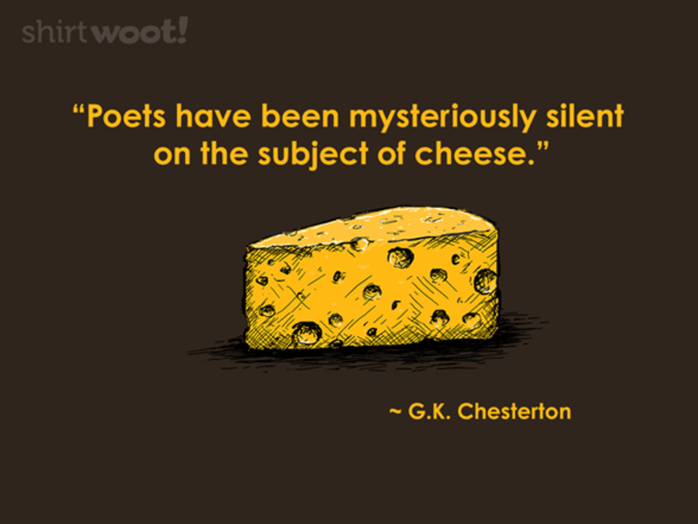 Woot!: Cheesy Poetry - $8.00 + $5 standard shipping
