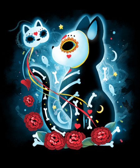 Qwertee: Carnival Cat