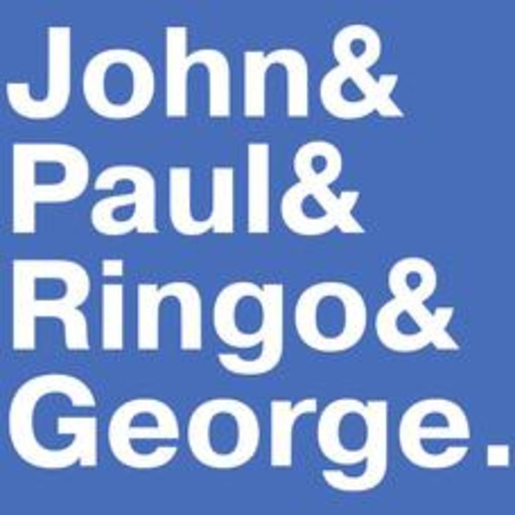 Textual Tees: Beatles Names T-Shirt