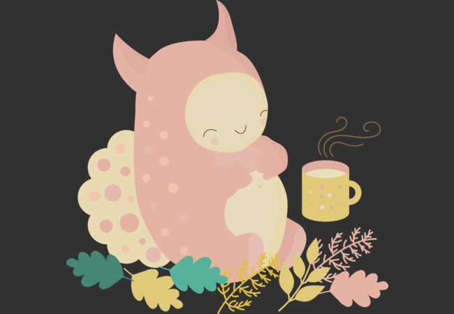 Design by Humans: Cute pink monster