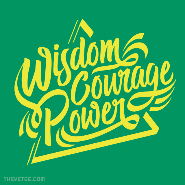 The Yetee: Wisdom Courage Power