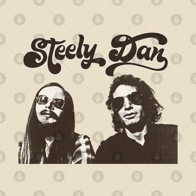 TeePublic: Retro Style Steely Dan Fan Art Design