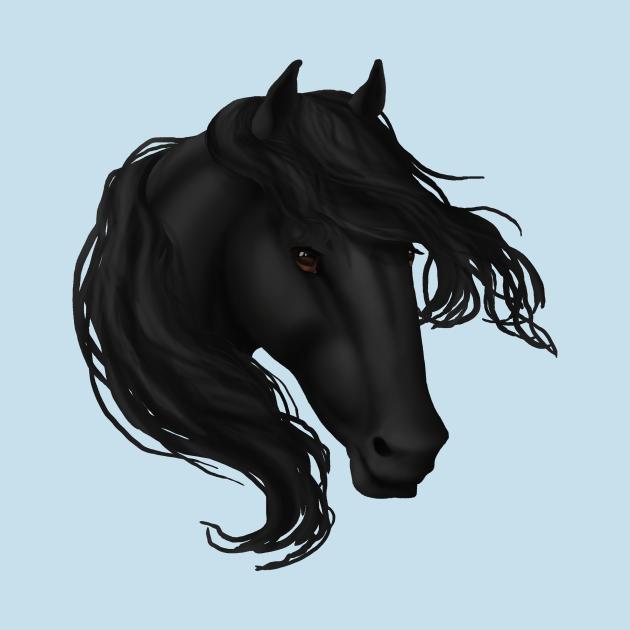 TeePublic: Horse Head - Black