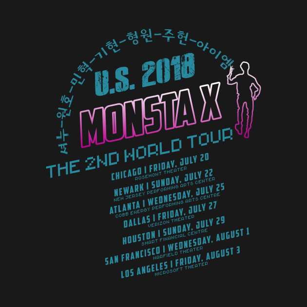 TeePublic: MONSTA X U.S. 2018 THE 2ND WORLD TOUR