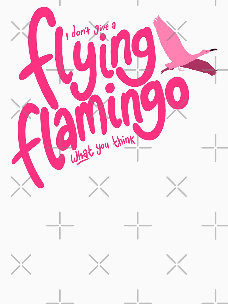 RedBubble: A Flying Flamingo