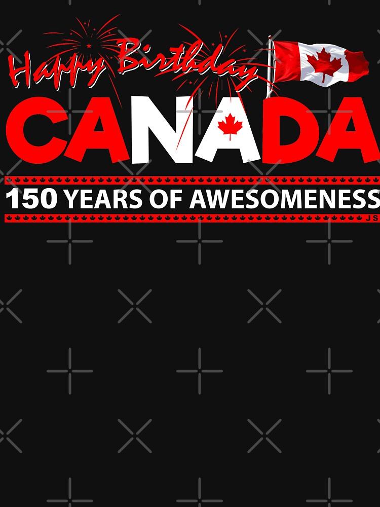 RedBubble: Happy Birthday Canada 150 Years Of Awesomeness