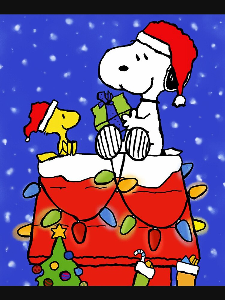 RedBubble: a charlie christmas 2019 brown snopy gift natalan