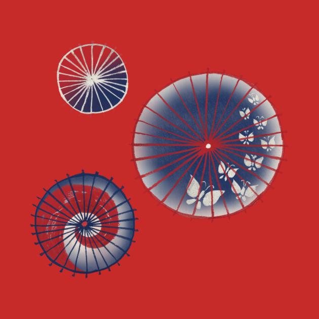 TeePublic: Wagasa (和傘/Oil-paper umbrella)