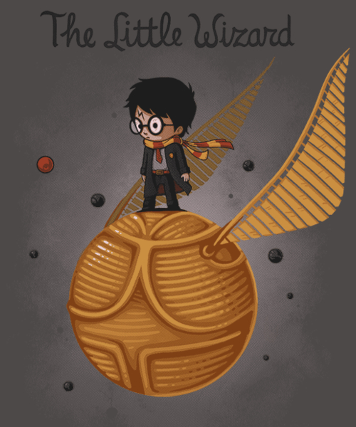 Qwertee: The Little Wizard