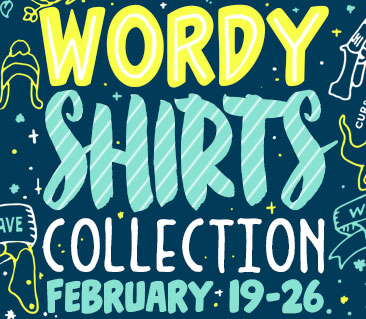 TeeFury: Wordy Shirts Collection