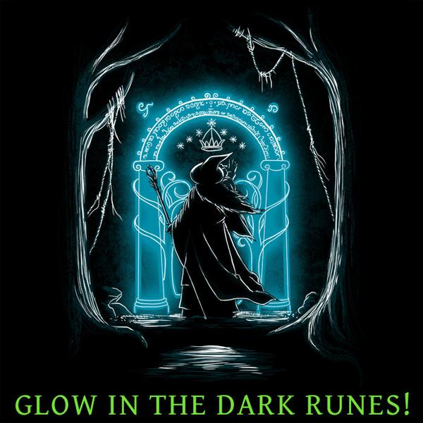 Tee11: Speak Friend and Enter – Glowing Runes