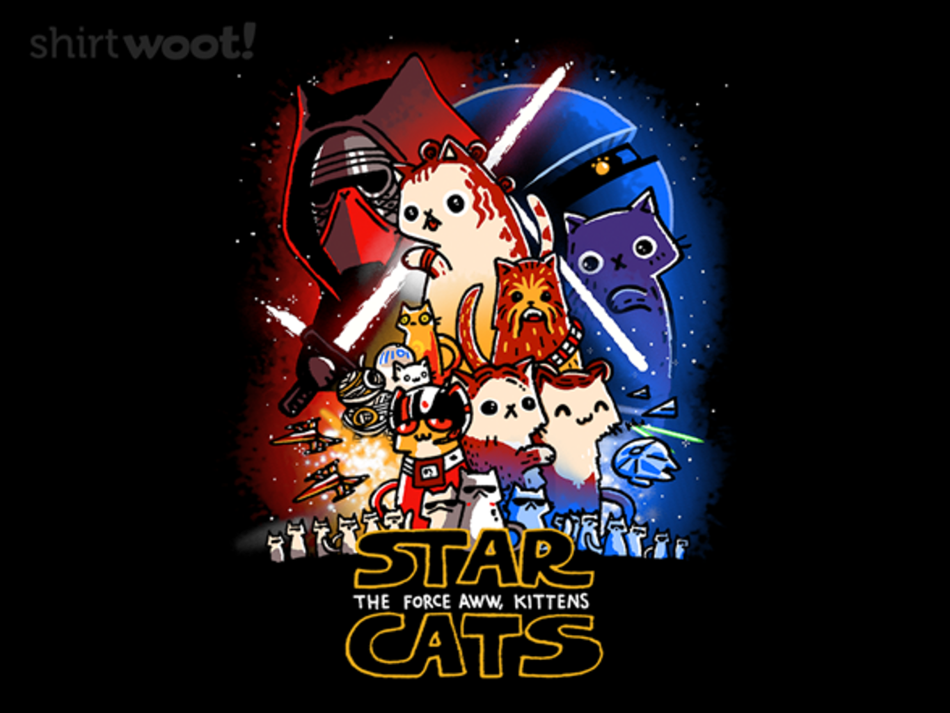 Woot!: Star Cats: The Force Aww, Kittens
