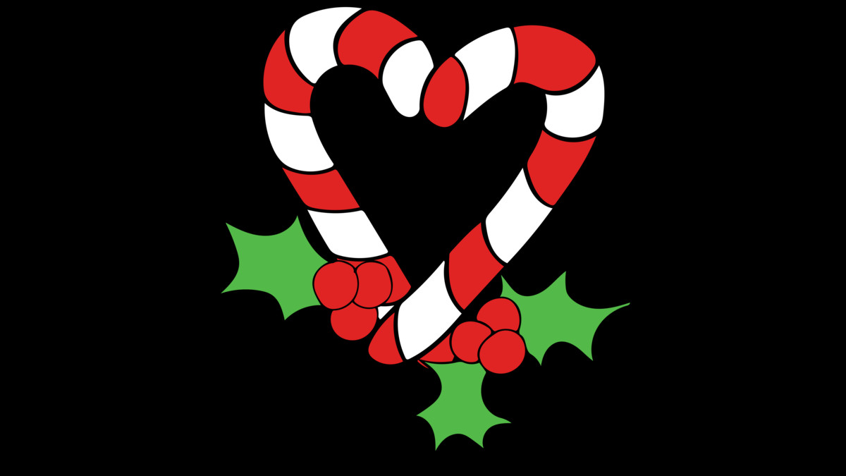 Design by Humans: Candy Cane Heart
