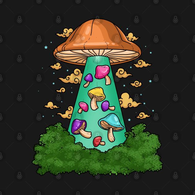 TeePublic: Ufo Shrooms Gift Men Magic Mushroom Gifts Women Psilocybin