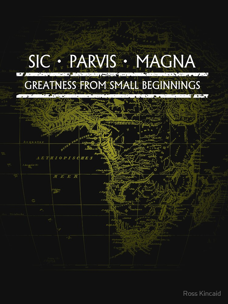RedBubble: Uncharted - SIC PARVIS MAGNA (Black)