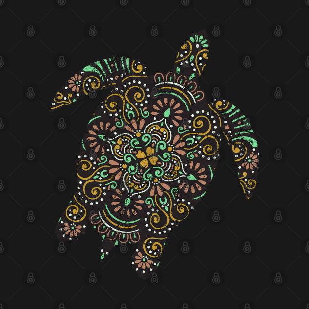 TeePublic: Vintage Tribal Hawaiian Sea Turtle