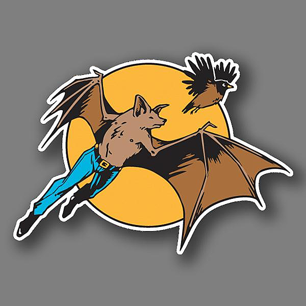 BustedTees: Bat Man and Robin Vinyl Sticker