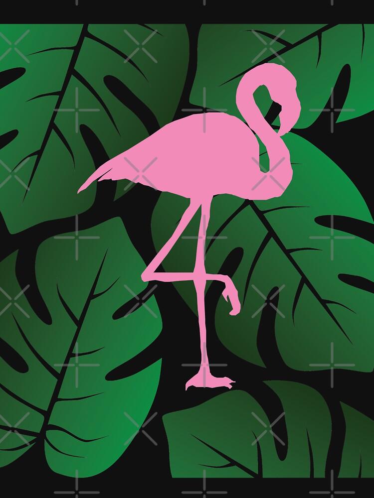 RedBubble: Flamingo Monstera Design collage