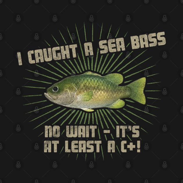 TeePublic: Animal Crossing - Sea Bass Dark