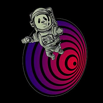 BustedTees: Space Panda Getting Sucked Down A Black Hole