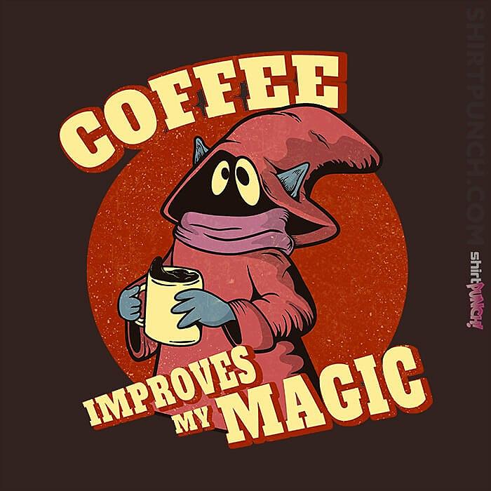 ShirtPunch: Coffee Improves My Magic