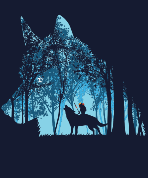 Qwertee: Princess forest