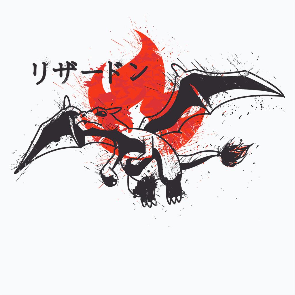 Pop-Up Tee: Red Sun Dragon