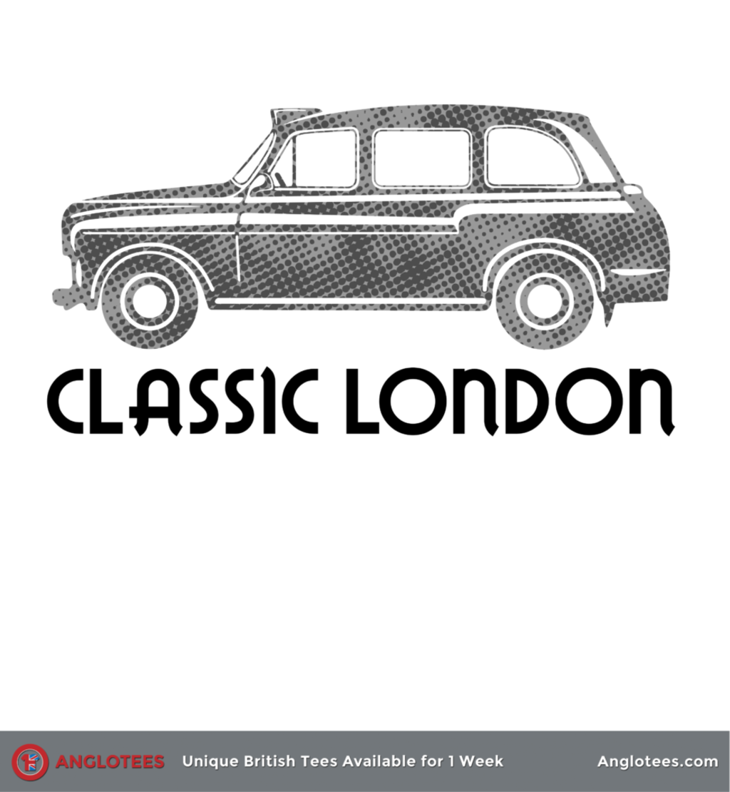 Anglotees: Classic London: Black Taxi