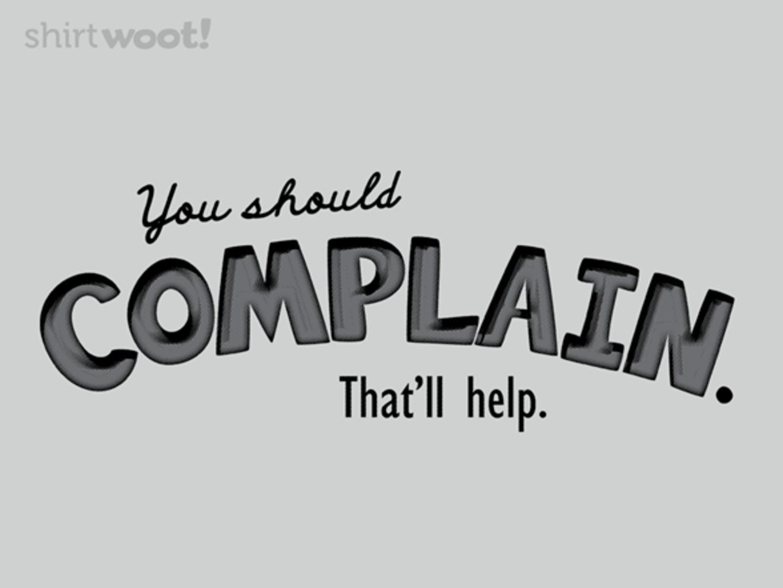 Woot!: Complain