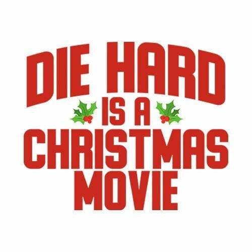 BustedTees: Die Hard Is A Christmas Movie Raglan