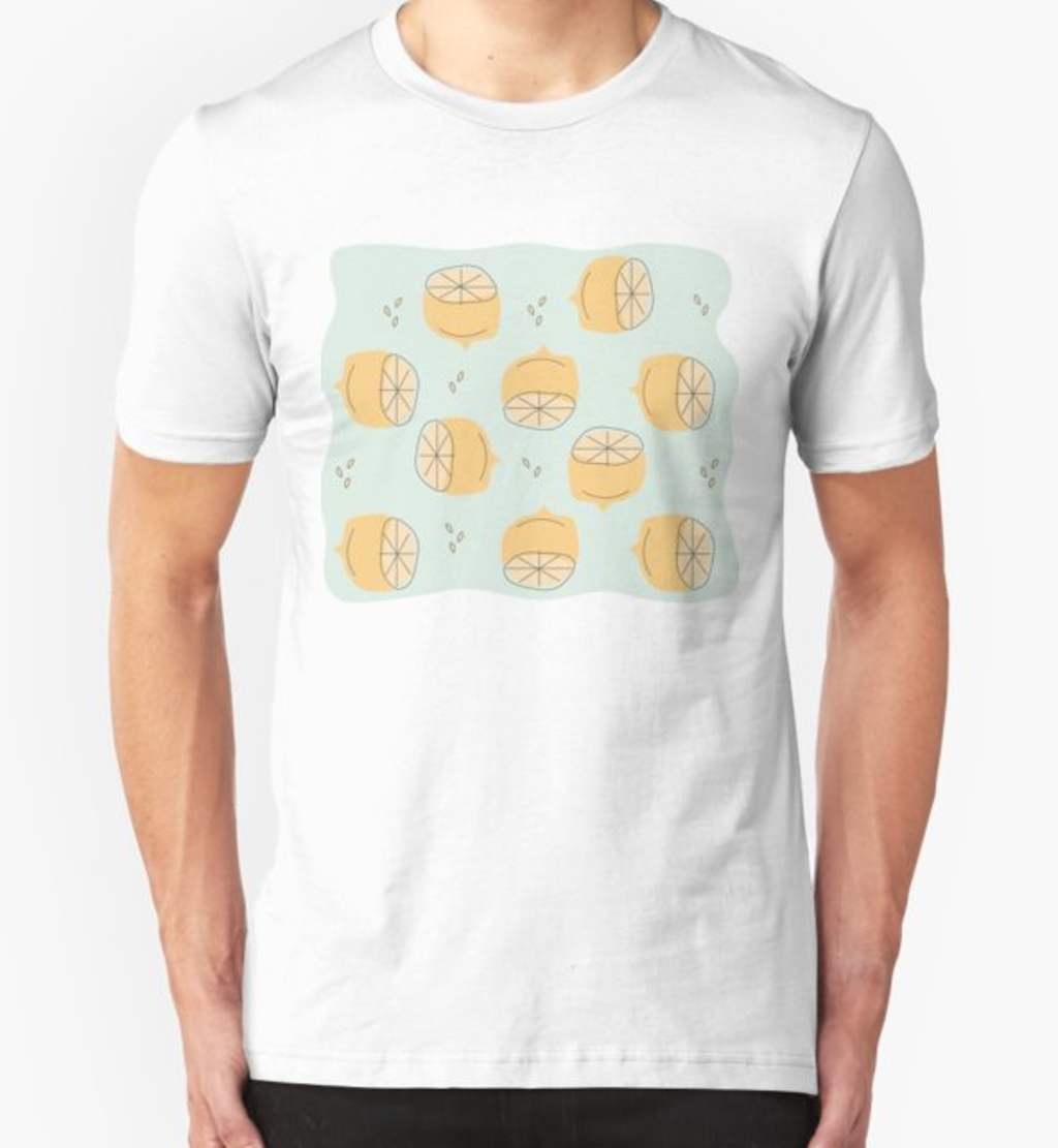 RedBubble: Lemon Pattern Illustration