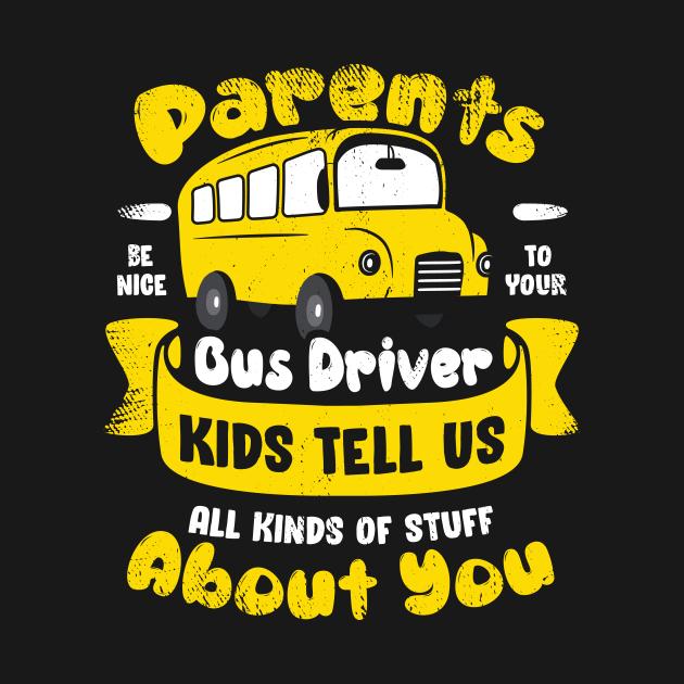 TeePublic: Funny School Bus Driver Operator Gift