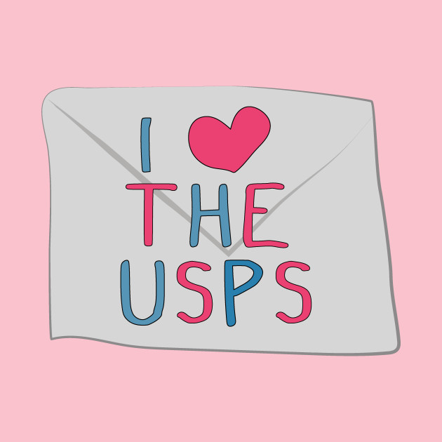 TeePublic: I love the USPS (save the USPS)