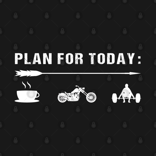 TeePublic: Plan for Today Mens Vintage Retro Motorcycle Coffee Gym Gift