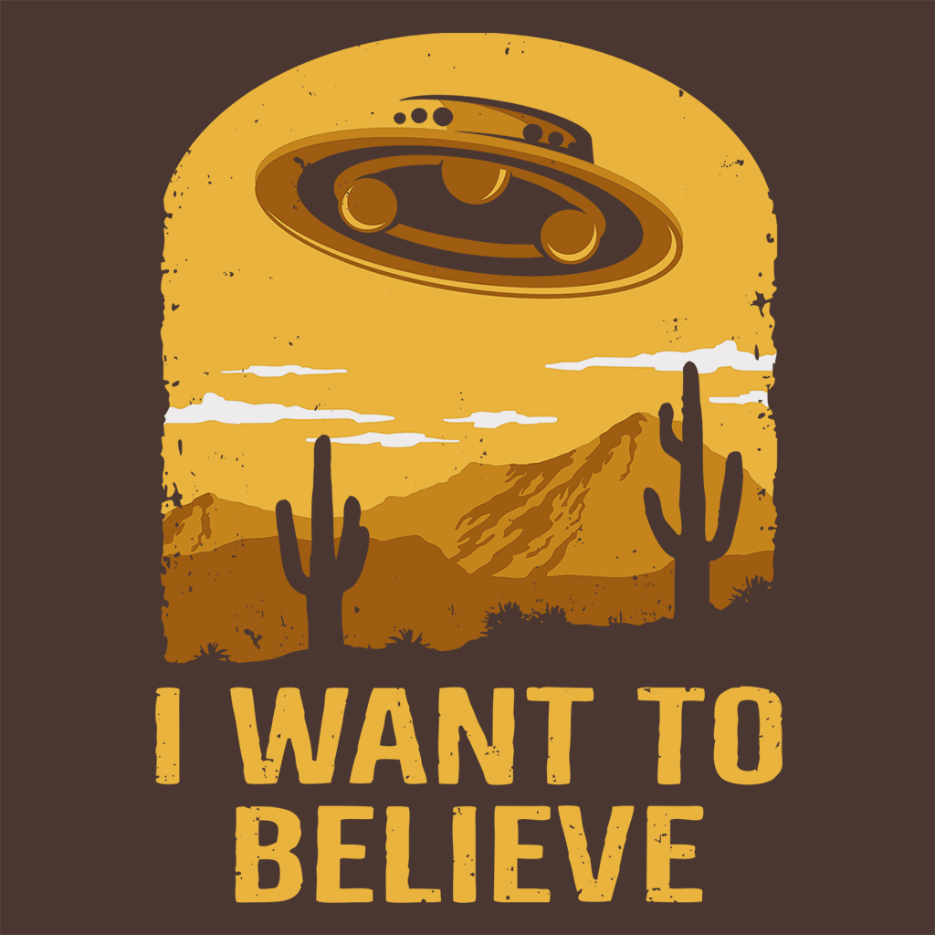 Pop-Up Tee: Believe UFO
