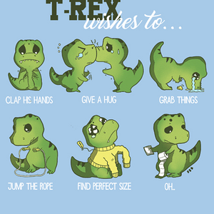 Qwertee: T-rex wishes to...