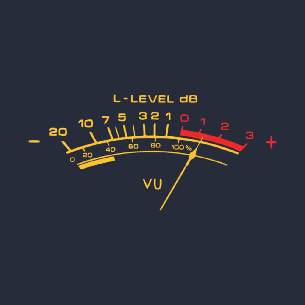 TeePublic: vu meter