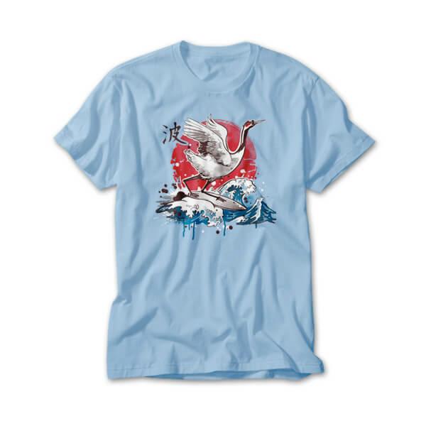 OtherTees: surfer crain bird