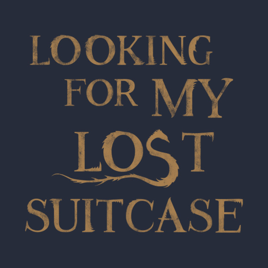 TeePublic: Fantastic Beasts Lost Suitcase T-Shirt