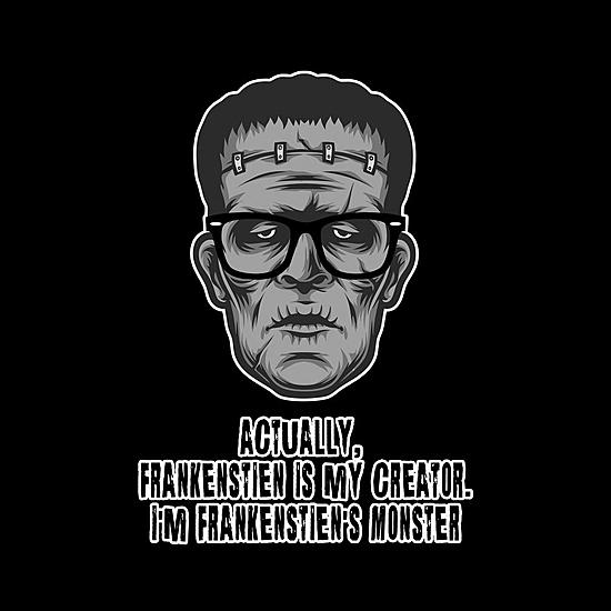 BustedTees: Hipster Frankenstein