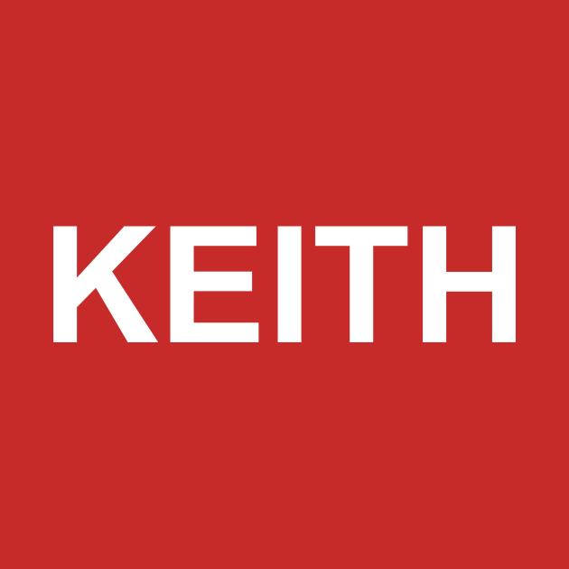 """TeePublic: Keith Moon Red """"Keith"""" Tee"""
