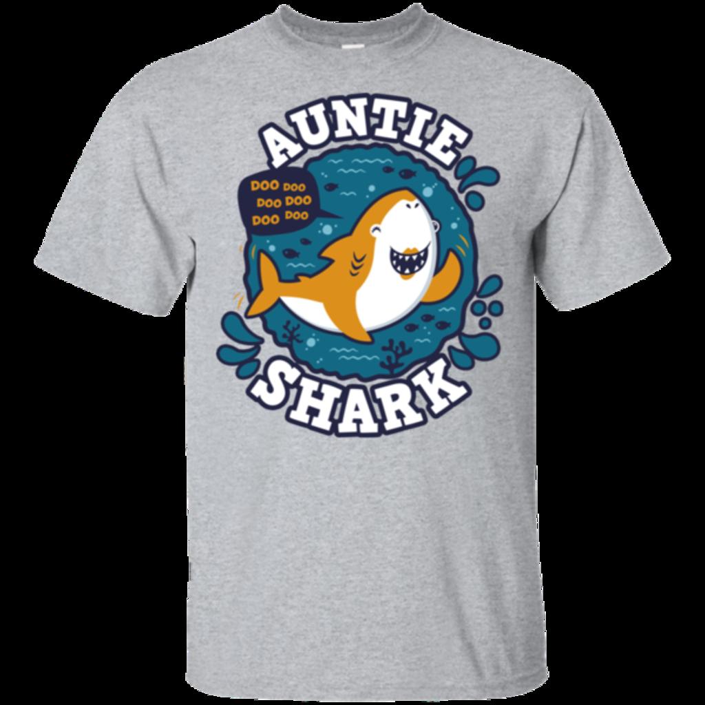 Pop-Up Tee: Shark Family Trazo - Auntie