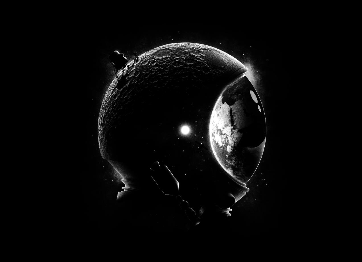 Threadless: Moon's Helmet