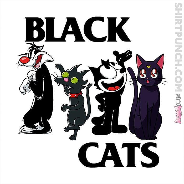 ShirtPunch: Black Cats Flag