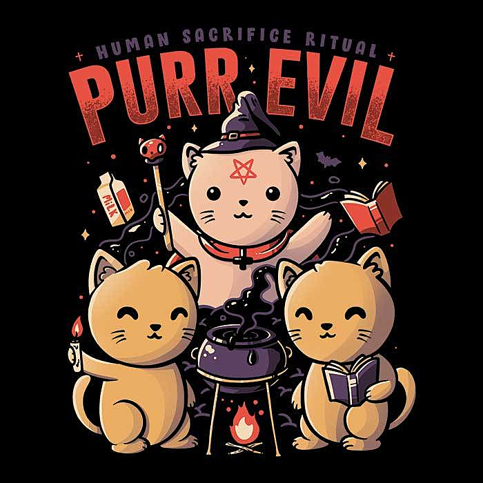 Once Upon a Tee: Purr Evil