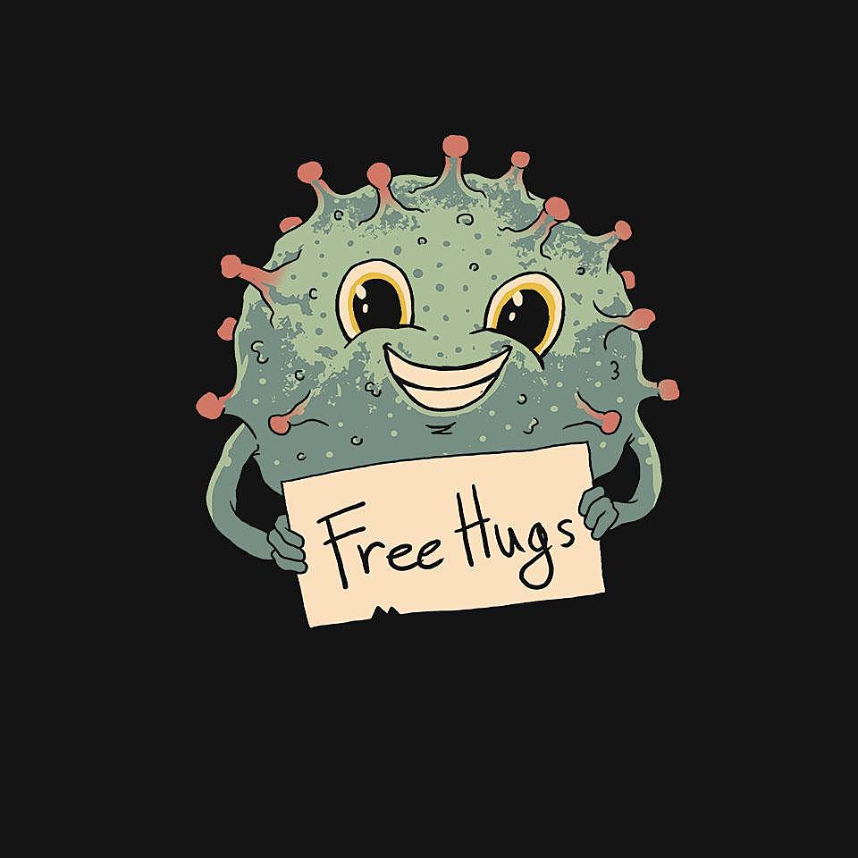 TeeFury: Free Virus Hugs