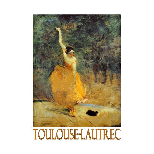 TeePublic: The Spanish Dancer by Henri de Toulouse-Lautrec