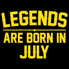 Textual Tees: Legends Are Born In July