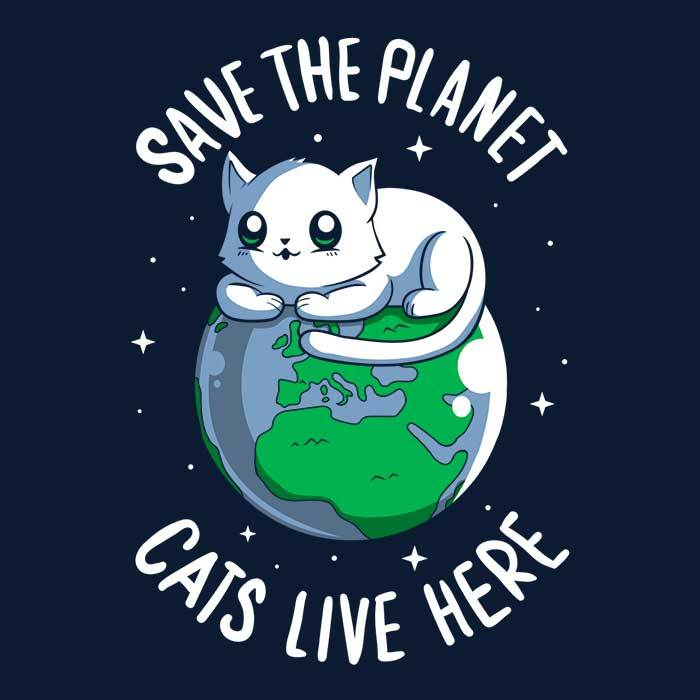Once Upon a Tee: Cats Live Here
