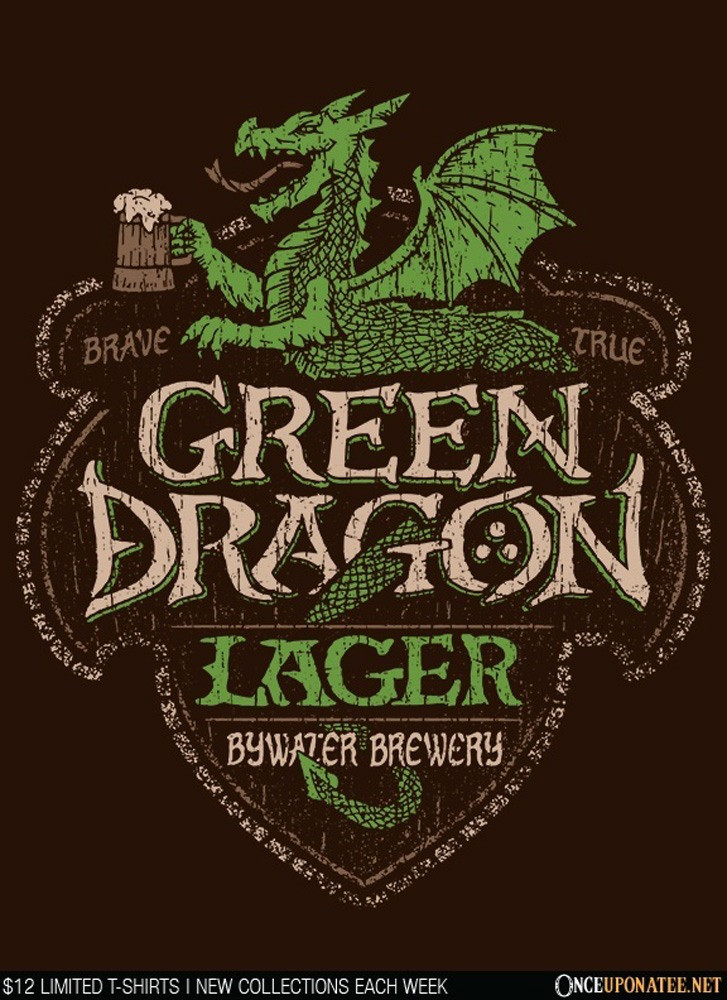 Once Upon a Tee: Green Dragon Lager